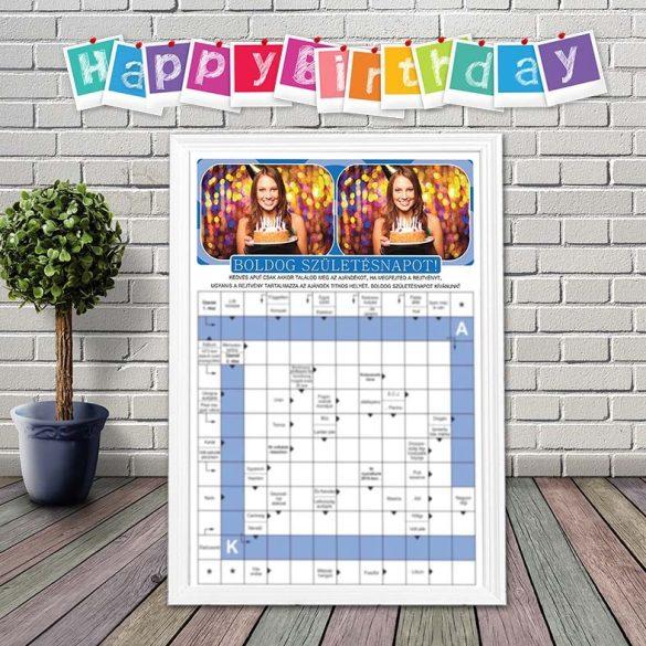 Születésnapra, névnapra -  Születésnapi ajándékrejtvény _ PROBA