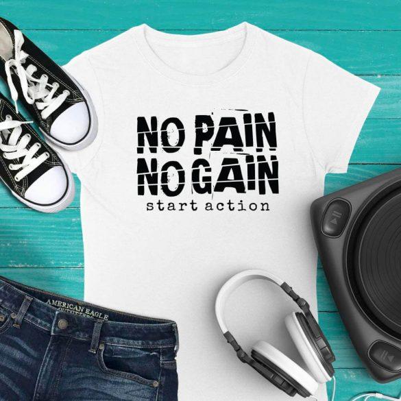 No pain no gain_egyedi-polo