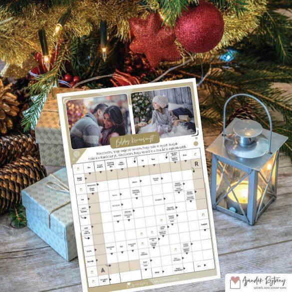 Karácsonyi ajándékrejtvény - egyedi karácsonyi ajándék