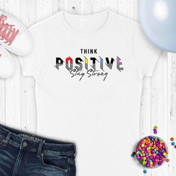 Think positive stay strong-mintas-polo
