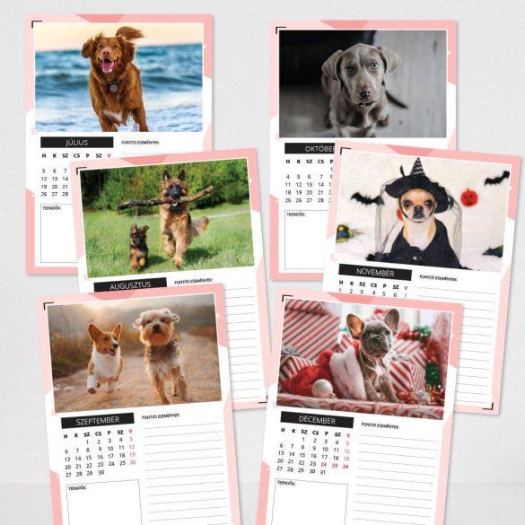 Spirálozott, fényképes falinaptár - Kutyák